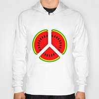 watermelon Hoodies featuring Watermelon by mailboxdisco