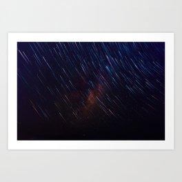 The Galaxy Rains (Color) Art Print