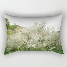 Silver Leaf Sagebrush // North Dakota, Theodore Roosevelt National Park Rectangular Pillow