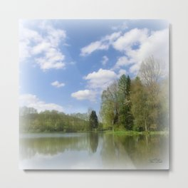 Impression Lake Metal Print