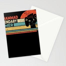 Muhammad Legendary Gamer Personalized Gift Stationery Cards