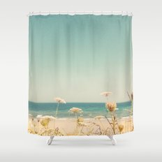 Water and Lace Shower Curtain