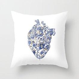 Broken heart - kintsugi Throw Pillow