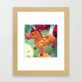 Vintage Toy Horse Framed Art Print