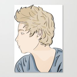 Luke - watercolor Canvas Print