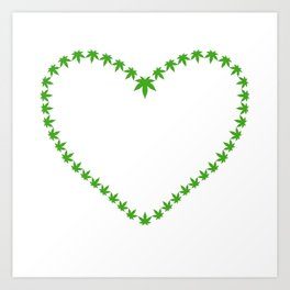 Cannabis Heart Art Print