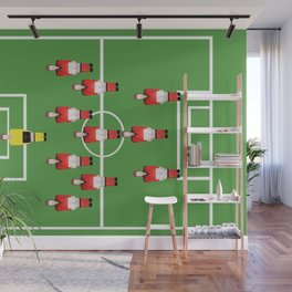 Soccer football team in red Wall Mural