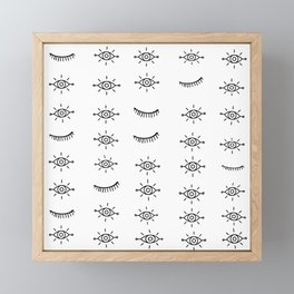 Eyes All Over Framed Mini Art Print