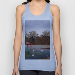 "Henri Rousseau ""The Flamingos"", 1907 Unisex Tank Top"