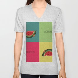 Summer Detected Watermelon Unisex V-Neck
