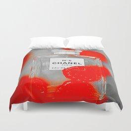 No 5 Red Splash Duvet Cover