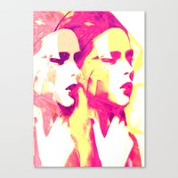 faces Canvas Prints featuring Faces by Paola Rassu