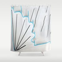 seashell Shower Curtains featuring Seashell by Sara Pfefer
