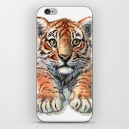 Playful Tiger Cub 907 iPhone Skin