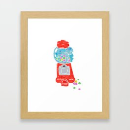 Bubble gum machine. Framed Art Print