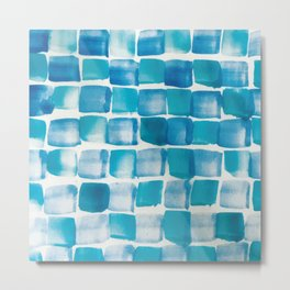 Ocean blue blocks Metal Print