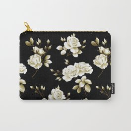 Spring Rose - Black Carry-All Pouch