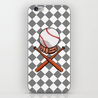 baseball iPhone & iPod Skins featuring Baseball by mailboxdisco