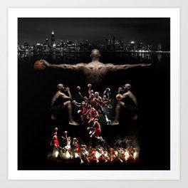 The New Mj collage Art Print