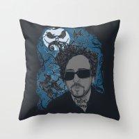 tim burton Throw Pillows featuring Burton´s Universe by 2mzdesign