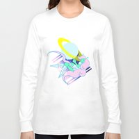 postcard Long Sleeve T-shirts featuring Alien Postcard by Viga Victoria Gadson