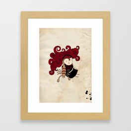 Scorpio girl Framed Art Print
