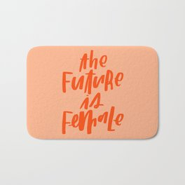 The Future is Female Pink and Orange Bath Mat