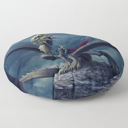 He and His Dragon Floor Pillow