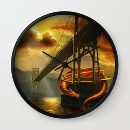 The Dragon of the St Johns Bridge Wall Clock