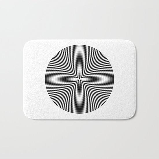 Hypnotic Circles optical illusion Bath Mat