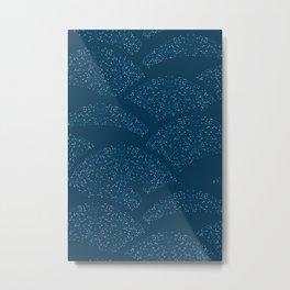 Sparkling Hills - Classic Blue Metal Print