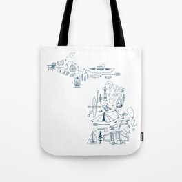 Michigan Up North Collage Tote Bag