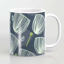 Tulip Garden M+M Navy Black by Friztin Coffee Mug