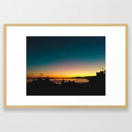 Sunday Evening Sunset Framed Art Print
