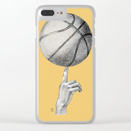 Basketball spin orange Clear iPhone Case