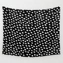 Brush Dot Pattern Black by dngrmouse