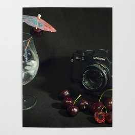 Cosina and Cherry cocktail Poster