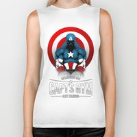 gym Biker Tanks featuring Capt's Gym by Corey Courts