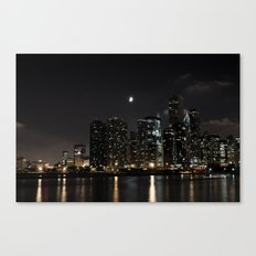 Moonlit Chicago Skyline Canvas Print