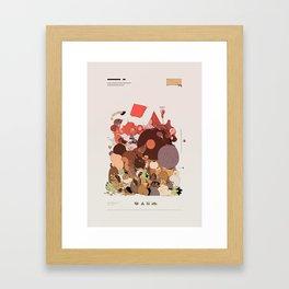 organic infographics Framed Art Print