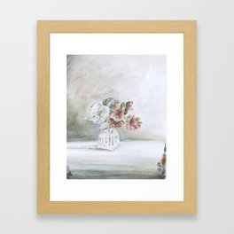 Intimacy (Pear blossom, Azalea)   Framed Art Print