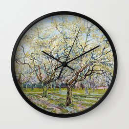 The White Orchard by Vincent van Gogh Wall Clock