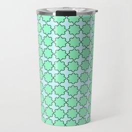 Mint Turquoise Pattern Travel Mug