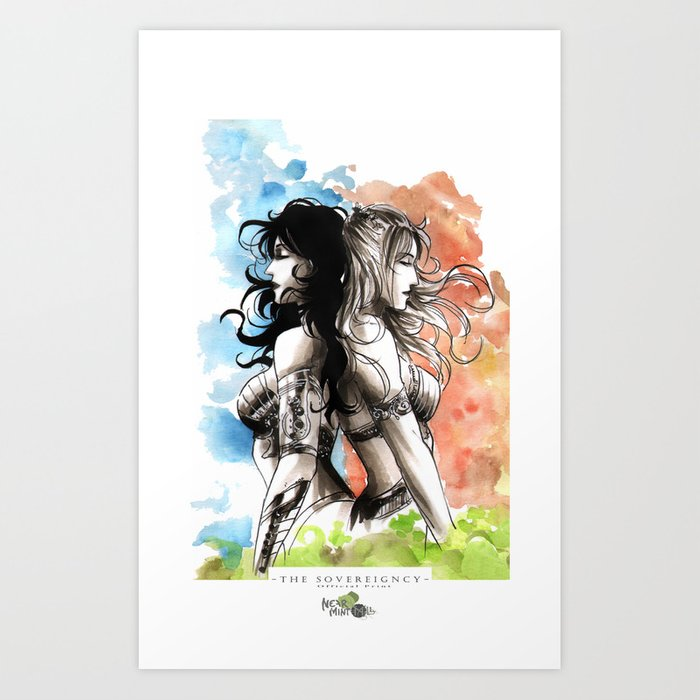 Two Queens Art Print