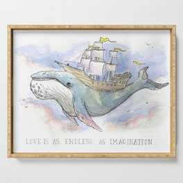 Love is as Endless as Imagination Serving Tray