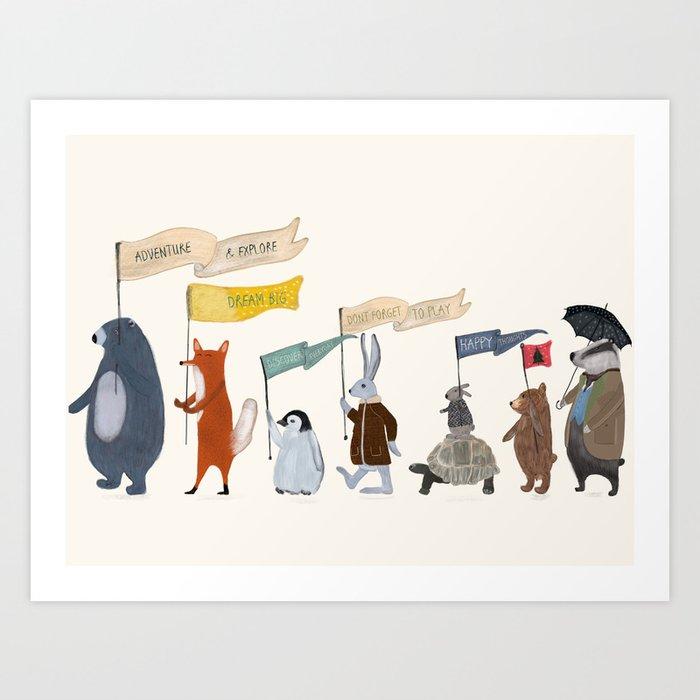 adventure and explore Kunstdrucke