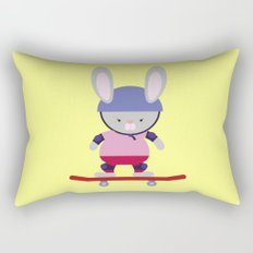 Bunny Skater Rectangular Pillow