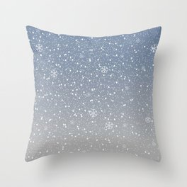 Cute Subtle Winter Background with snow. Throw Pillow