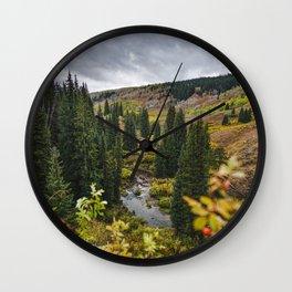 Wyoming Fall Wall Clock