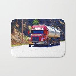Truckers Big Rig Fuel Tanker Truck Bath Mat